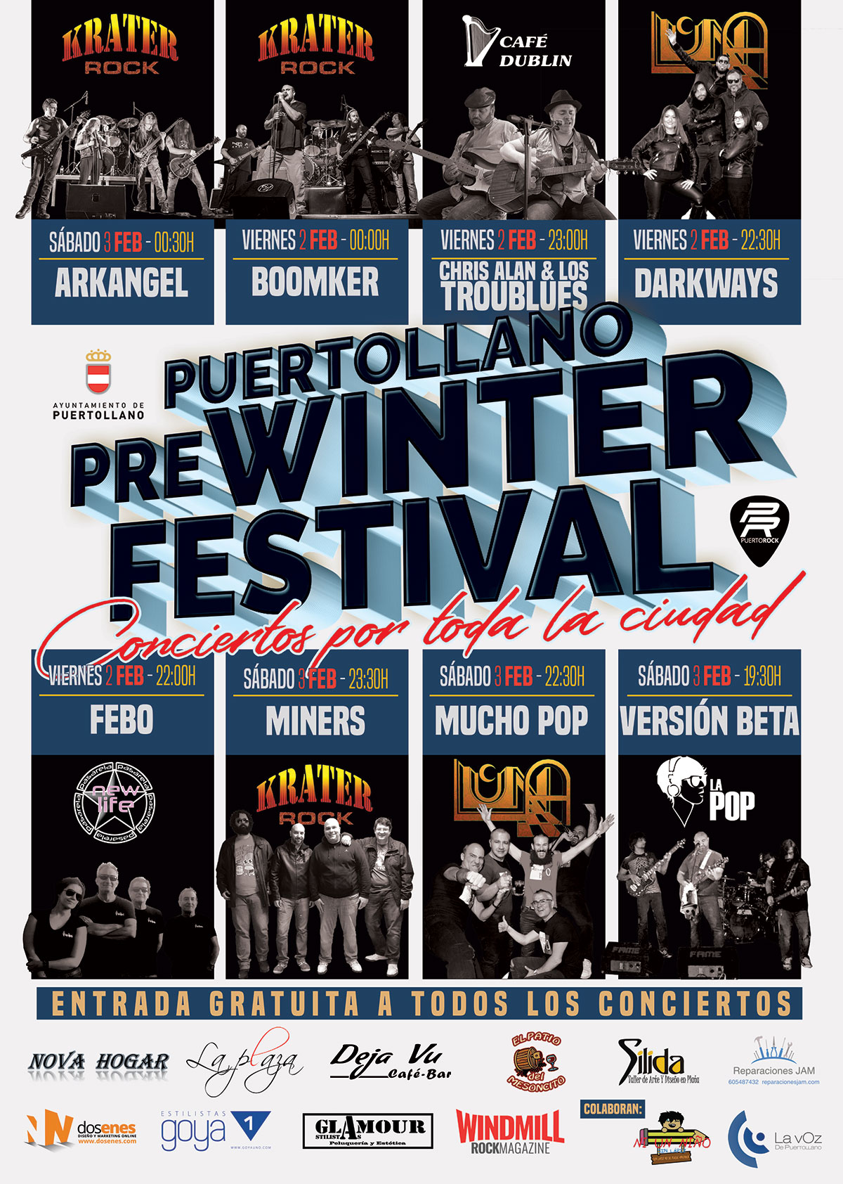 cartel Puertollano Pre Winter Festival 2018